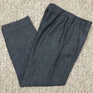 GIORGIO ARMANI Dress Pants  Marbled Black Sz 42